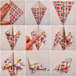 Pajaritos coloridos realizados con la técnica origami ¿Cómo hacerlo?