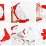 Cómo hacer Flores rojas para decorar las paredes