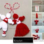 Navidad con lanas: pareja con lana paso a paso para el árbol