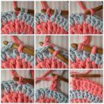 ¡Tendencia a crochet! Posa-pava en dos colores