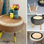 ¡Estilo vintage para tu decoración! Mesa de sitio realizada con goma de autos
