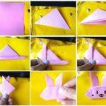 Paso a paso para hacer con la técnica origami un divertido Bugs Bunny