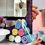 ¡Amor, flores y decoración! Divertida manera de tener guardadas las toallas