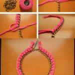 ¡Colores al verano! Gargantilla muy delicada realizada con lana y cadenas