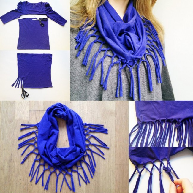 DIY-Fashion-T-Shirt-Scarf