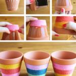 ¡Colores para las plantas! Ideas para decorar macetas con hilos