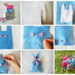 Bolsas de golosinas con forma de conejo: ideal para los mas chicos