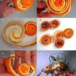 ¡Aroma a naranja! Rosas para centros de mesa realizadas con cascaras de naranja