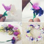 ¡Primavera en tu pelo! Corona de flores para una boda campestre