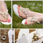¡Comodidad! Ojotas con perlas para el día de tu boda, paso a paso