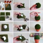 ¡Centros de mesa! ¿Cómo hacer arbolitos artificiales?
