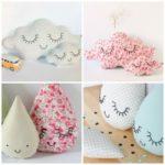 ¡Nubes,amor y Almohadones con caras para la decoración infantil!
