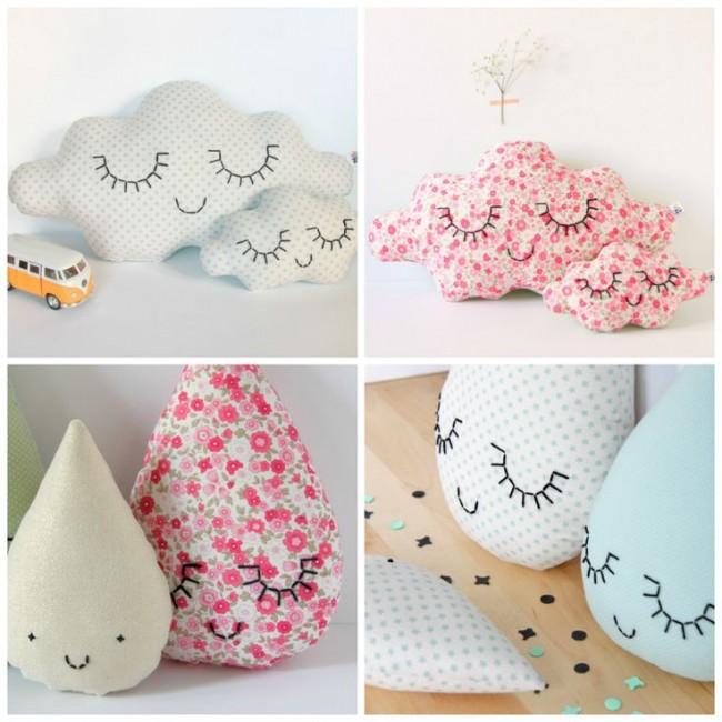 Nubes amor y almohadones con caras para la decoraci n for Decoracion del hogar facil y economico