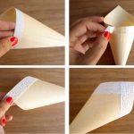 Ideas para bodas: Cucuruchos de papel y puntillas para guardar el arroz