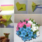 ¡Alegría y flores! Divino centro de mesa realizado con flores de colores para estas fiestas
