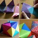 Divertidos cubos de diversos colores realizados con la técnica origami: ¿Cómo hacerlos?