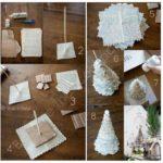 ¡Acercándonos a navidad! Pino navideño realizado con papel de diario reciclado