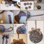 Bolas de raso y pasamanería para decorar en las fiestas:¿Cómo hacerlas?