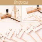Los preparativos: Originales etiquetas para individualizar a los invitados de una boda