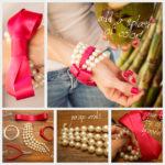 Perlas que son tendencia: ¿Cómo hacer una pulsera de perlas y cinta de raso?