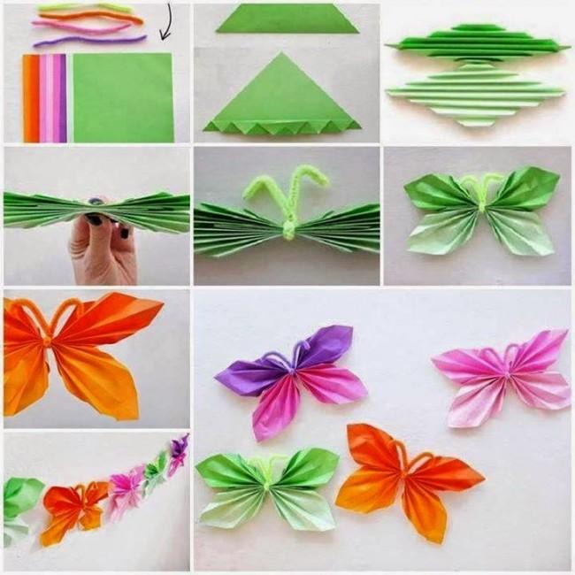 mariposas de papel para decoración faciles de hacer paso a paso