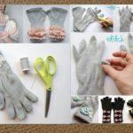 ¡Ponele onda al invierno! Ideas para hacer guantes sin dedo con detalles originales
