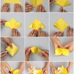 Tendencia en origami: Delicado ramo de flores amarillas realizados con está técnica