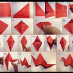 Ideas con paso a paso para hacer un pájaro con la técnica origami
