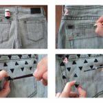 ¡Ponele onda a tus pantalones! Customizar jeans con detalles de pintura negra