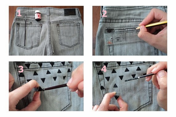 Ponele Onda A Tus Pantalones Customizar Jeans Con Detalles De Pintura Negra Como Hacer Todo