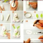 Bonitos conejos realizados con pasta de chocolate para entregar de souvenirs