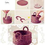 Ideas: Canasta de fondant para llenarla de huevos para las Pascuas
