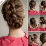 Peinado con trenzas recogidas para una novia campestre: fácil y rápido