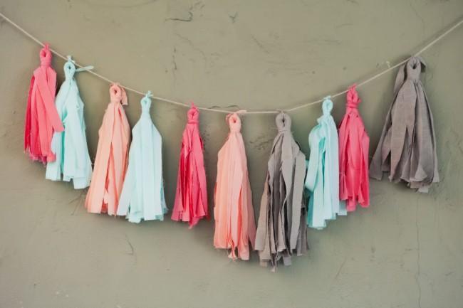 Colorida guirnalda en tela para decorar un cuarto - Telas para decorar ...