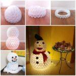 ¿Cómo hacer un muñeco de nieve con vasos descartables?