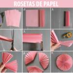 ¿Cómo hacer Rosetas de papel de seda para un bautismo?