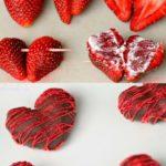 Bombón con forma de corazón bañado con chocolate: paso a paso