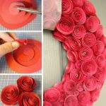 Con amor: guirnalda de rosas de papel para cumpleaños