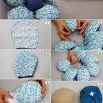 Diseño de almohadón con forma de flor para el cuarto del bebe