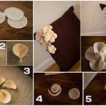 Paso a paso para hacer flores de fieltro para decorar almohadones