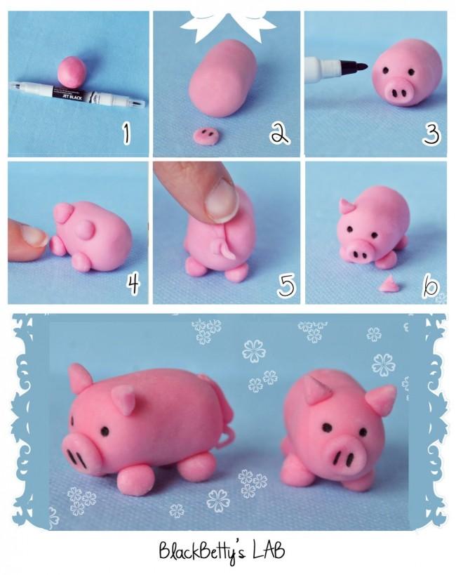 Simp tico cerdito en fondant rosa para decorar tortas de cumplea os como hacer todo - Pasos a seguir para echar a tu hijo de casa ...