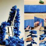 Super guirnalda para cumpleaños de papel en color azul