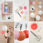 ¡Super idea! Gurinalda para cumpleaños confeccionada con globos y papel mache