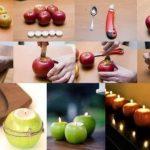 Original idea para decorar una mesa con velas de frutas