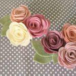 ¿Cómo hacer flores de fieltro para utilizar de prendedor?
