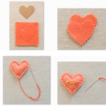 ¿Cómo hacer un Prendedor con forma de corazón en fieltro?