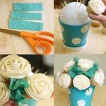 ¿Cómo hacer un centro de mesa con cupcakes?