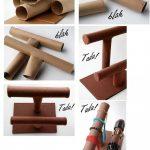 ¡A ordenar tus pulseras con este práctico Organizador de bisutería realizado con tubos de cartón!