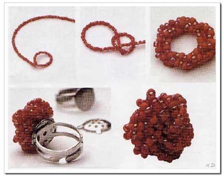 como hacer anillos de bisuteria