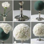 Delicados centros de mesa para una boda con flores naturales